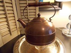 Vintage TEAPOT Copper Vintage TEA KETTLE by VintageCreativeAccen