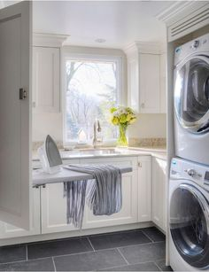 Laundry Photos Small Laundry Room Design, Pictures, Remodel, Decor and Ideas - page 6 Laundry Room Cabinets, Laundry Room Organization, Laundry Room Design, Laundry Shelves, Laundry Decor, Basement Laundry, Laundry Closet, Small Shelves, Basement Bathroom