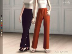 Pearl Slit Pants by Serenity for The Sims 4
