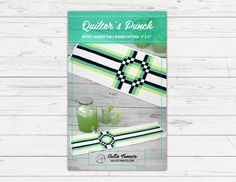 Pattern for Quilter's Punch Table Runner // Modern Table Runner Pattern // Album Block // Quilted // Pieced // by Sallie Tomato