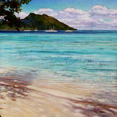 """tahiti painting """"Huahine""""carolinezimmermann.com"""