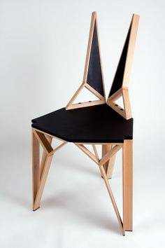 Aggressive Yet Sophisticated Lines Defining Alterego Chair by Albert Puig: A clean and symmetrical structure, with aggressive yet sophisticated lines, it has a backrest that adapts to the lumbar area and clears the spinal column, offering a greater feeling of freedom. The structure is made of beech wood, providing major lightness to the piece.
