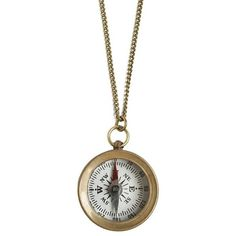 Antiqued Compass Necklace ($40) ❤ liked on Polyvore featuring jewelry, necklaces, chain pendant necklace, chain necklace, chains jewelry, pendant necklace and chain pendants