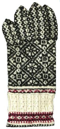 Randme servas - kahevärviline silmuste loomine e nn Kihnu troi Mittens Pattern, Knit Mittens, Mitten Gloves, Knitting Stitches, Knitting Designs, Knitting Patterns, Fair Isle Pattern, Fair Isle Knitting, Projects To Try