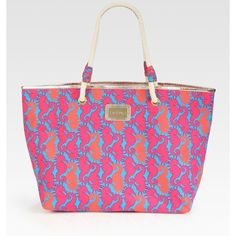 Lilly Pulitzer Seahorse Shoreline Tote ($78) ❤ liked on Polyvore