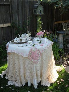 Vintage Afternoon Tea Party Setting