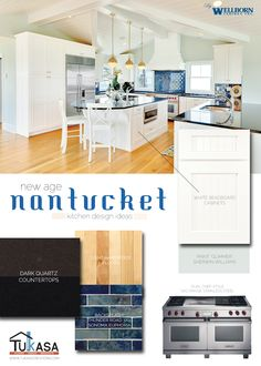 Nantucket-inspired kitchen design ideas for the home.