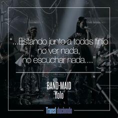 Canción traducida: #BAND-MAID - #Yolo | #JRock Encuentra la letra completa en http://transl-duciendo.blogspot.com.co/2016/11/band-maid-yolo-tu-solo-vives-una-vez.html