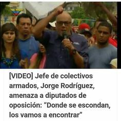 """El Alcalde de Caracas,Jorge Rodríguez, amenazó a los diputados de la oposición, Thomas Guanipa, y José Guerra, y les reiteró que """"donde se escondan los vamos a encontrar no permitiremos más desmanes"""". En este orden de ideas, el alcalde de Caracas, rechazó """"los actos vandálicos financiados por José Guerra. No permitiremos que sigan recorriendo las calles del Valle, ni nuestro barrios contratando a minorías de bandas criminales. Intentaron por la vía del terror sacarnos de la lucha. Seguiremos…"""