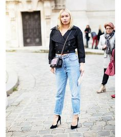 @Who What Wear - Mom Jeans                 Spring Shoe Match: Pointy-Toe Pump  Image from Stockholm Streetstyle