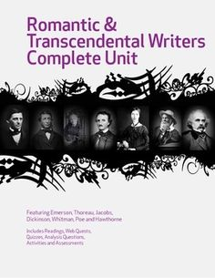 Introduce your class to America's literary renaissance with this extensive unit featuring Dickinson, Whitman, Emerson, Thoreau, Jacobs, Poe and Hawthorne. Includes a group research project, a variety of learning activities, quizzes, analysis questions, writing activities and a multiple choice test. All teacher notes and keys included. Common Core aligned. $