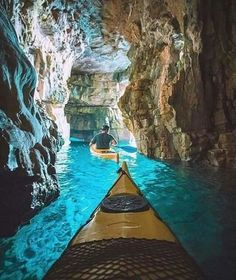 Cave kayaking in Pula, Croatia