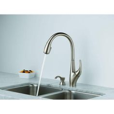 Kohler Barossa Faucet : KOHLER Barossa Single-Handle Pull-Down Kitchen Faucet in Vibrant ...