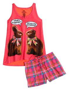 Chocolate Bunny Pajama Set   Girls Pajamas & Robes Pjs, Bras & Panties   Shop Justice