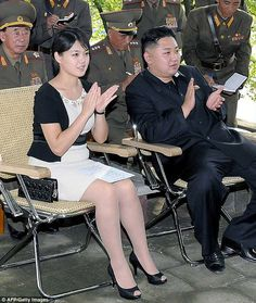 Middleton effect: Much like the Duchess of Cambridge,Ri Sol-Ju - dictator Kim Jong-Un's wife, both pictured - is seen as a style icon