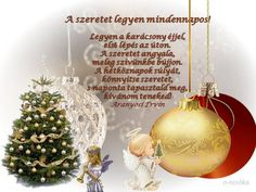 A szeretet legyen mindenn Winter Christmas, Christmas Bulbs, Xmas, Advent, December, Seasons, Holiday Decor, Blog, Scrapbook