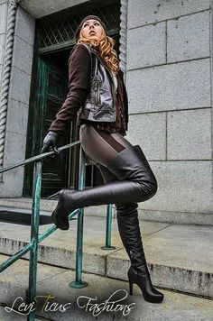 High Leather Boots, Leather Gloves, Thigh High Boots, High Heel Boots, Sexy Boots, Black Boots, Crotch Boots, Stiletto Boots, Long Boots