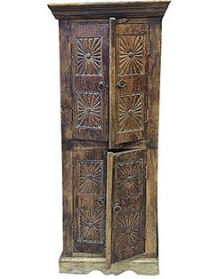 Rustic Antique Armoire Indian Furniture Old Door Chakra Carved Cabinet India Mogul Interior http://www.amazon.com/dp/B010FGFOGI/ref=cm_sw_r_pi_dp_KNsJvb1TX68ZK