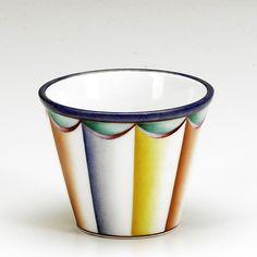 GIO PONTI; RICHARD GINORI; Porcelain vessel decorated with polychrome drapery