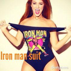 Iron man bathing suit | i need it.
