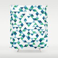 #blue #green #white #triangles #projectm #geometric