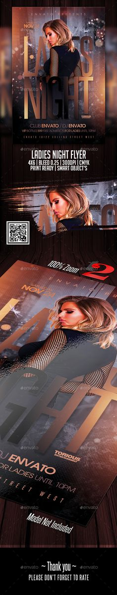 Ladies Night Flyer Template — Photoshop PSD #print #heart • Download ➝ https://graphicriver.net/item/ladies-night-flyer-template/21790239?ref=pxcr