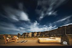 A full moon showcases the mesas against the sky. At night the occasional coyote yips, and at dawn bighorn sheep may troop by. Welcome to Amangiri, the extravagant 600-acre #resort near the Navajo Nation in #Utah as it cuts in near Page, Arizona. This is one of the best places in the United States for #stargazing The air is clear and dry, and there's very little ambient light. (Photo by Stephen Wilkes)