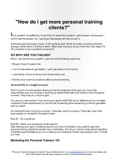 Printable sample personal training contract template form online im fed up with trainers who complain they dont know how to get personal training clients be proactive filling a client roster should not be hard thecheapjerseys Image collections