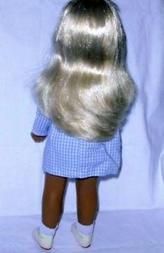 Sasha-Doll-Gingham-Dress-Platinum-Blond-Hair-amp-Blue-Eyes-Tag-Box-EXC