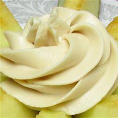 Cream Cheese Fruit Dip. Love this with apples! 8 ounce package of cream cheese (softened), 1 tablespoon of vanilla extract and 1 cup of brown sugar. LOVE!