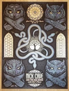 2017 Nick Cave - Los Angeles Silkscreen Concert Poster by Todd Slater