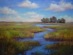 """Painting the Big View...A Trip to the Lowcountry"" - Original Fine Art for Sale - © Karen Margulis"