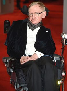 Conspiracy theory: Some people claim the real Stephen Hawking has died and the man posing as him is just a lookalike. Pictured, the professor at a red carpet appearance
