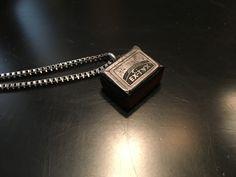 Letterpress print block pendant wood jewelry Wood necklace Woodturning Wood design