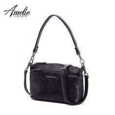 ab5eaf3430de AMELIE GALANTI Fashion Women Handbag for Women 2018 PU Leather Messenger Bag  Multi Pockets Crossbody Shoulder