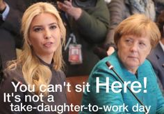 Ivanka's sitting in on her Father's meeting with top level officials.