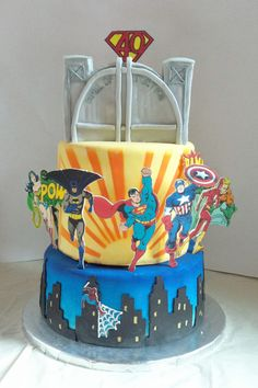Super Friends (Heroes) cake