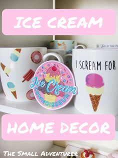 Ice Cream Decor for Ice Cream Month Collection Series Ice Cream Decorations, Cool Kids Rooms, Kid Spaces, Decorating Your Home, Pennies, Fun, Gifts, Collection, Blogging