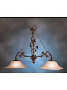 Kichler Lighting 3871 PRZ Two Light Lorraine Colllection Hanging Island Pendant Chandelier in Parisian Bronze Finish
