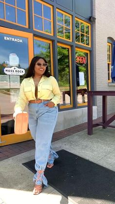 Jeans Outfit Summer, Summer Jeans, Summer Outfits, Vintage Jeans, Jugend Mode Outfits, Black African American, Street Style Summer, Teen Fashion Outfits, Wide Leg Jeans