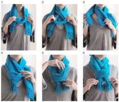 This is Marvelous: how to tie a scarfHow to tie a scarf bow ( // Wrap the scarf around your neck and make sure both ends are even.Scarf Style - Accessories of Women Scarf Knots, Diy Scarf, Tie A Scarf, Scarf Rings, Mode Outfits, Fall Outfits, Fashion Outfits, Fashion Tips, Fashion Scarves