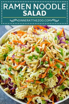 Ramen Noodle Cabbage Salad , fully reflects the desired Ramen Noodle Salad theme. Asian Ramen Salad, Asian Noodle Salads, Ramen Salad With Cabbage, Asian Slaw With Ramen Noodles, Recipes With Ramen Noodles, Crunchy Asian Salad, Napa Cabbage Slaw, Best Ramen Noodles, Veggies