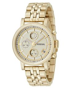 Fossil Watch, Women's Gold Plated Bracelet ES2197 - Women's Watches - Jewelry & Watches - Macy's