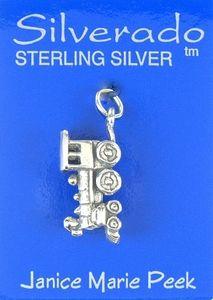 Charm  Train Engine Narrow Gauge Sterling Silver 2171