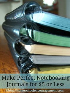 """Our Perfect Notebooking Journal - """"I've been pondering this for a while.  How do I make a notebooking journal for my son to use that is sturdy, expandable, and at the same time attractive enough to get him excited."""" from #Homeschool Encouragement"""