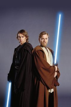 Anakin & Obi Wan. Check out our review of Star Wars: Episode 3 - Revenge of the Sith here: http://chaptersandscenes.wordpress.com/2014/01/29/the-family-reviews-star-wars-episode-3-revenge-of-the-sith/