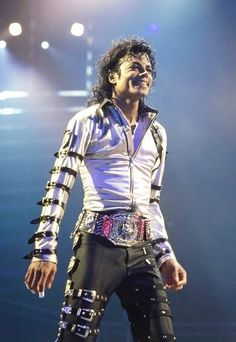 Michael Jackson during the Bad Tour
