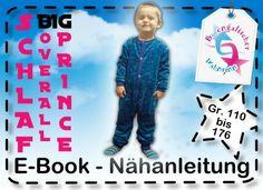 """Ebook+""""Schlafoverall+BIG+PRINCE""""+Gr.+110-176++von+B_Engalischer+Wahnsinn+auf+DaWanda.com"""