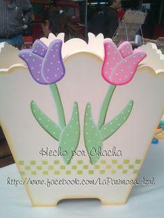 Papelero tulipanes