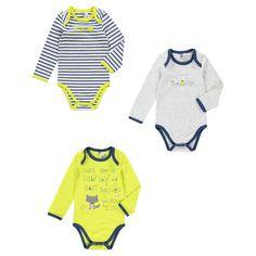 New collection aw16 ! --> bodies / Lot de 3 bodies garçon manches longues print loup   #bébé #baby #newarrivals #shopnow #style